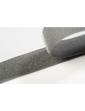 1 Meter Klettband mittelgrau grau 20 mm breit