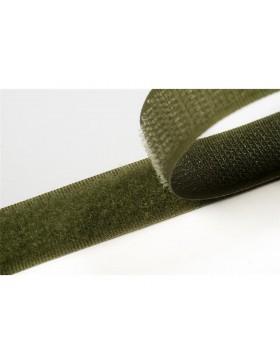 1 Meter Klettband olivgrün khaki 20 mm breit