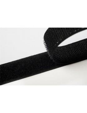 1 Meter Klettband schwarz 20 mm breit