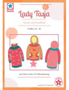 Schnittmuster Lady Tasja Hoodie und Sweatkleid Mialuna