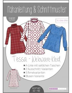Schnittmuster Tessa Webware Kleid / Tunika Kibadoo
