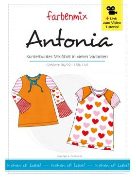 Schnittmuster ANTONIA Kombi Shirt Farbenmix