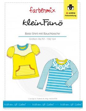 Schnittmuster kleinFANÖ, Basic Shirt Farbenmix