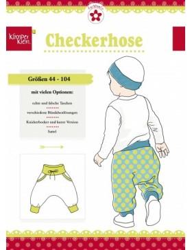 Schnittmuster Checkerhose Kinder Klimperklein Farbenmix