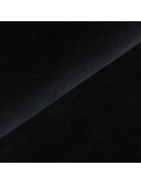 Cord Jersey breit gerippt schwarz einfarbig uni Breitcord
