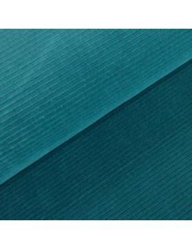 Cord Jersey breit gerippt petrol türkis einfarbig uni Breitcord