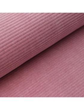 Cord Jersey breit gerippt altrosa rose rosa einfarbig uni Breitcord