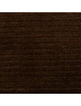 Cord Jersey breit gerippt braun dunkelbrau einfarbig uni Breitcord