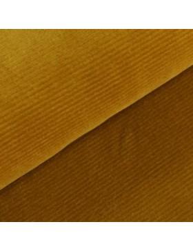 Cord Jersey breit gerippt senf senfgelb curry einfarbig uni Breitcord