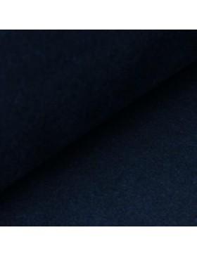 Baumwoll Fleece einfarbig dunkelblau blau